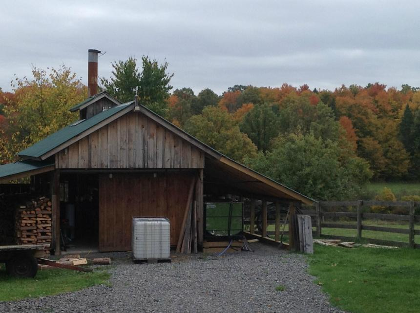 Sugar Shack in the Fall